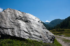 Mountain landscape with a large boulder Stock Image