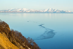 Mountain landscape, Magadan. Mountain landscape the Sea of Okhotsk, Magadan, Russia Stock Image