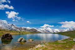 Mountain landscape with Matterhorn mountain Royalty Free Stock Photography