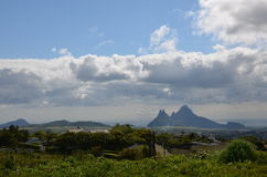 Mountain landscape of Mauritius 2. Mauritius landscape taken near Curepipe town Royalty Free Stock Photography