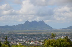 Mountain landscape of Mauritius 3. Mauritius landscape taken near Curepipe town Royalty Free Stock Photos