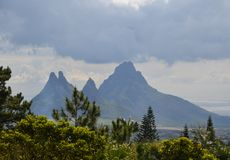 Mountain landscape of Mauritius 4. Mauritius landscape taken near Curepipe town Royalty Free Stock Photography