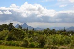 Mountain landscape of Mauritius 5. Mauritius landscape taken near Curepipe town Royalty Free Stock Photo