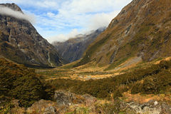 Mountain Landscape at the Milford Sound Royalty Free Stock Image