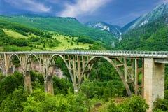 Mountain landscape, Montenegro. Durdevica Tara arc bridge in the. Mountains Stock Images