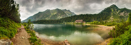 Mountain landscape with mountain chalet Royalty Free Stock Photography