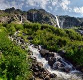 Mountain landscape with mountain river Stock Photos
