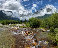 Mountain landscape with mountain river Stock Image