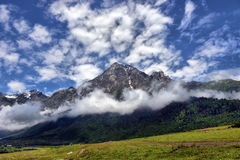 Mountain landscape with mountain river Royalty Free Stock Images
