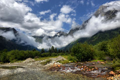 Mountain landscape with mountain river Stock Photography