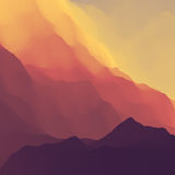 Mountain Landscape. Mountainous Terrain. Mountain Design. Vector Silhouettes Of Mountains Backgrounds. Sunset. Can Be Used For Banner, Flyer, Book Cover Royalty Free Stock Photography