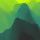 Mountain Landscape. Mountainous Terrain. Mountain Design. Vector Silhouettes Of Mountains Backgrounds. Sunset. Can Be Used For Banner, Flyer, Book Cover Stock Image
