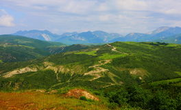 Mountain landscape in the mountains of the lesser Caucasus Royalty Free Stock Photography