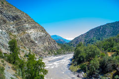Mountain Landscape. Landscape with mountains and a river royalty free stock images