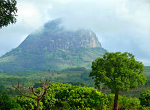 Mountain landscape of Mozambique. Mountains in the mist. Africa, Stock Images