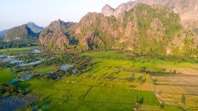 Mountain landscape in Myanmar Stock Image