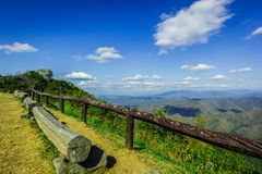 Mountain with blue sky and white clouds landscape Royalty Free Stock Photography