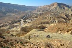Mountain landscape. National park Ein Avdat. Negev Desert. Israel Stock Photography