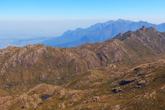 Mountain landscape, national park Itatiaia, Rio de Janeiro, Braz Stock Photos