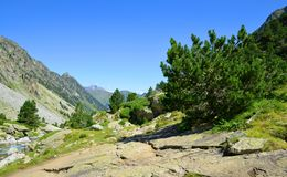 Mountain landscape in national park Pyrenees.France. royalty free stock photo