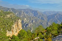Natural park north of the Valencian community. Mountain landscape in the natural park of `La tinenca de Benifassa` north of the Valencian community Royalty Free Stock Photos