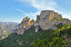 Natural park north of the Valencian community. Royalty Free Stock Photography