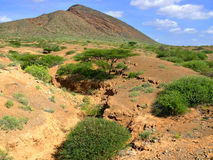 Mountain landscape of nature. Africa, Kenya. Royalty Free Stock Photos