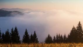 Mountain landscape. nature. fog clouds. Stock Photography