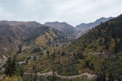 Mountain landscape. Near Almaty, Kazakhstan royalty free stock photography