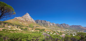 Mountain landscape near Cape Town Royalty Free Stock Images