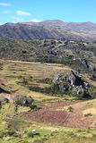 Mountain landscape near Cusco in Peru Stock Photos