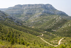 Mountain landscape near Marseille Stock Images