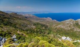 Mountain landscape near Neapoli Vion City. Greece stock photo