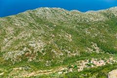 Mountain landscape near Neapoli Vion City. Greece royalty free stock photos