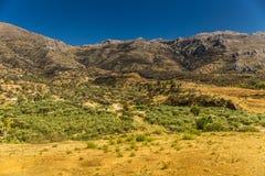 Mountain landscape near Neapoli Vion City. Greece stock image