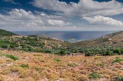 Mountain landscape near Neapoli Vion City Stock Photos