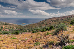Mountain landscape near Neapoli Vion City. Greece royalty free stock photo