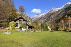 Mountain landscape. Mountain landscape near the `Orridi di Uriezzo` in Baceno, Italy Stock Images