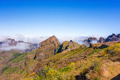 Mountain landscape near Pico do Arieiro Stock Photos