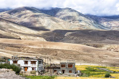 Mountain landscape near Rumste village (Altitude 4200 mt.) in Ladakh, India Royalty Free Stock Images