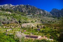 Mountain landscape near village Fornalutx Stock Photography
