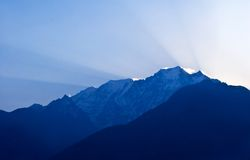Mountain landscape in the Nepal Himalaya Stock Photos