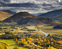 Mountain landscape, New Zealand Stock Photo