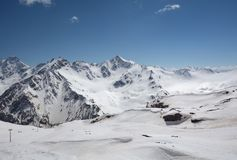 Mountain landscape of the North Caucasus. Russia. View of Elbrus Royalty Free Stock Images