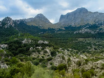 Mountain landscape in the north part of the Majorca island, Spai. N Royalty Free Stock Photography