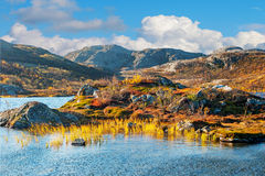 Mountain landscape in Norway Royalty Free Stock Images