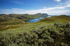 Mountain landscape in Norway Royalty Free Stock Image