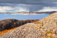 Mountain landscape by the Norwegian Sea Royalty Free Stock Photography