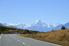 Mountain landscape in NZ. Stock Photo