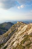 Mountain landscape with observation deck in Lovcen National Park, Montenegro. Beautiful mountain landscape with an observation deck in Lovcen National Park Stock Photos